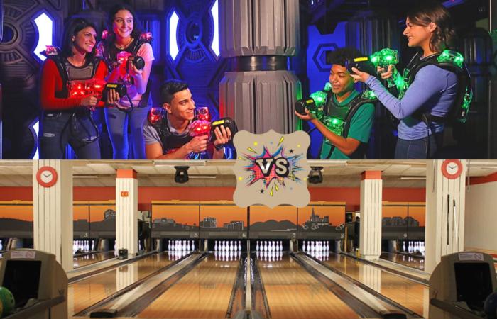 Eid Bowling og Laserworld kveld